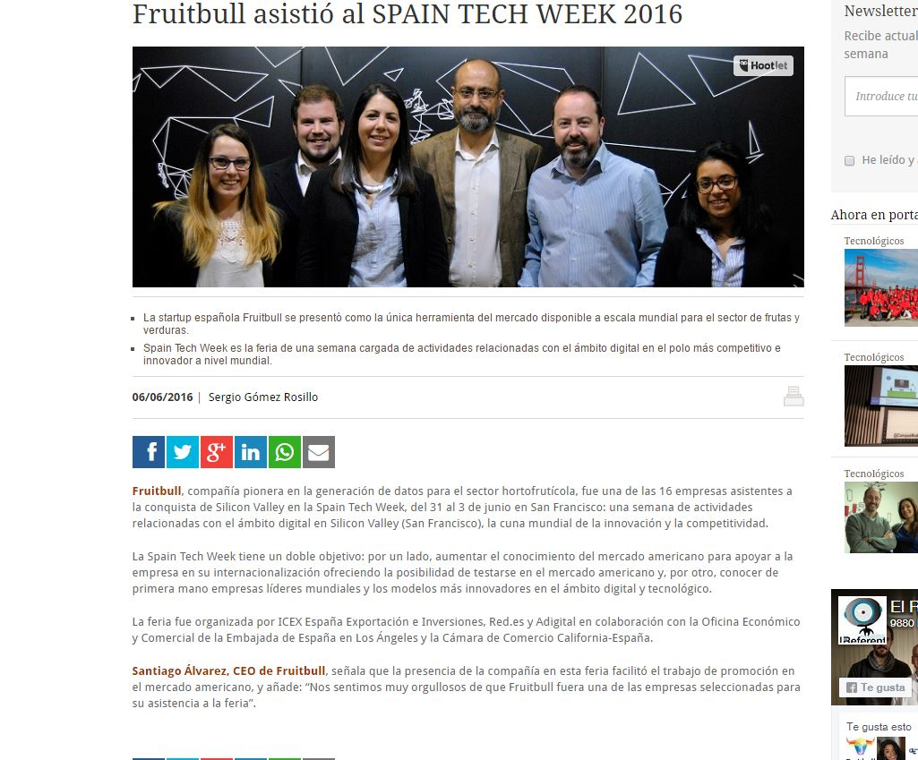 Fruitbull-asistió-al-SPAIN-TECH-WEEK-2016